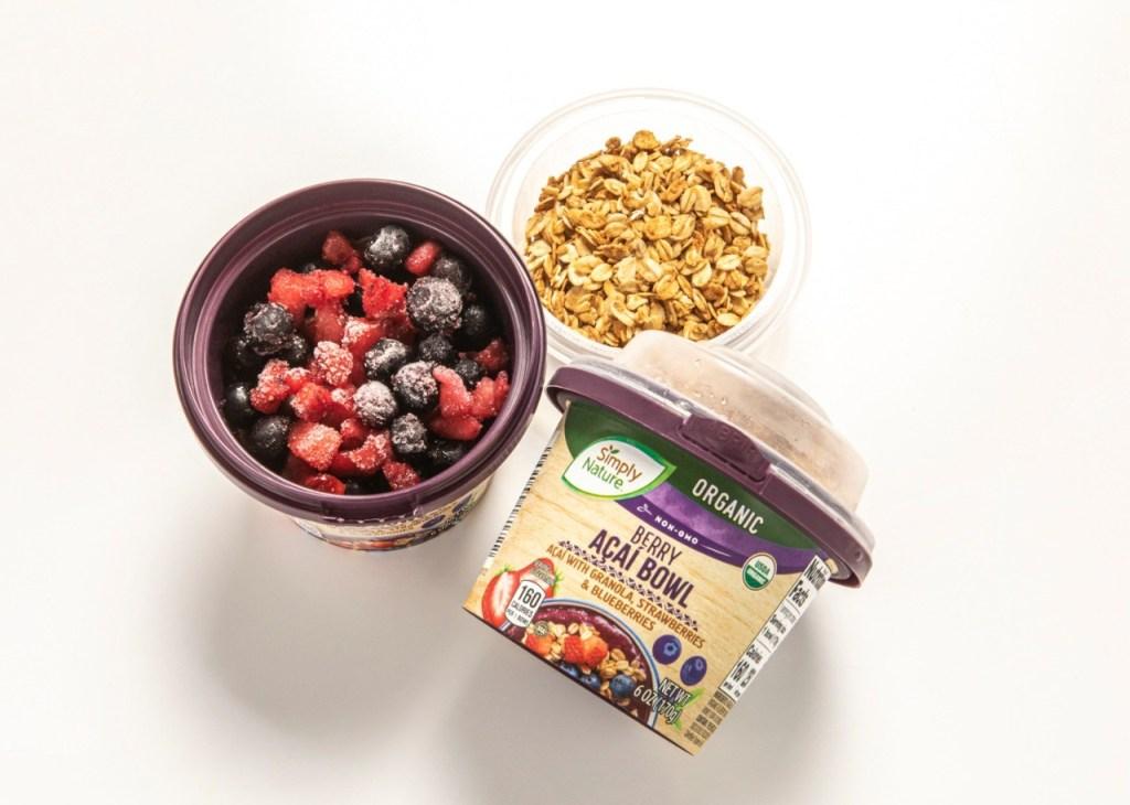 Simply Nature Organic Acai Bowls Berry