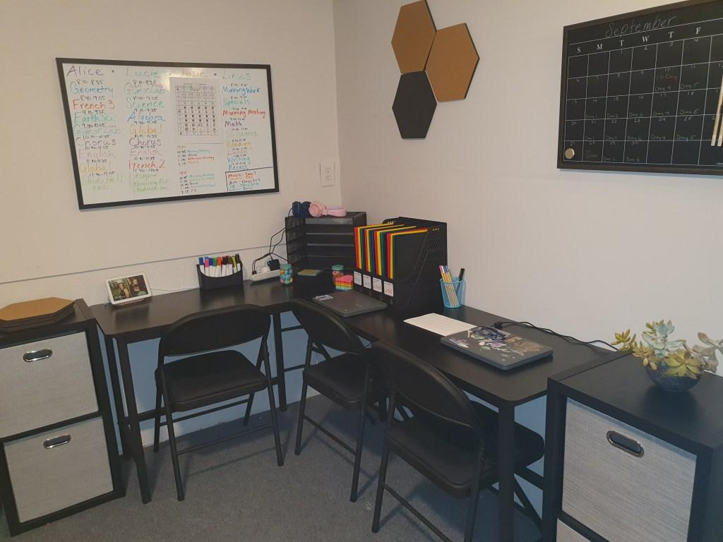Remote Learning Desk
