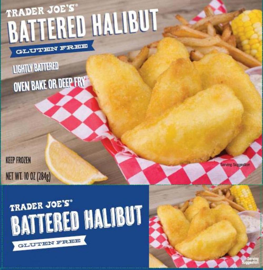 Trader Joe's brand Gluten Free Battered Halibut