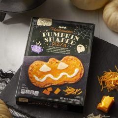Mama Cozzi's Pizza Kitchen Halloween Pumpkin Shaped Pizza