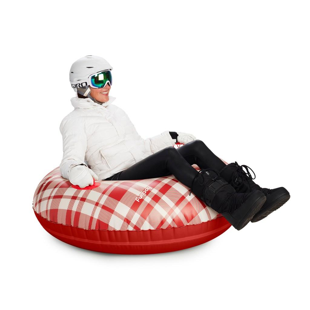 FUNBOY Retro Plaid Snow Tube