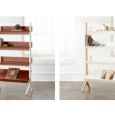Danish White and Natural Tall Bookcases