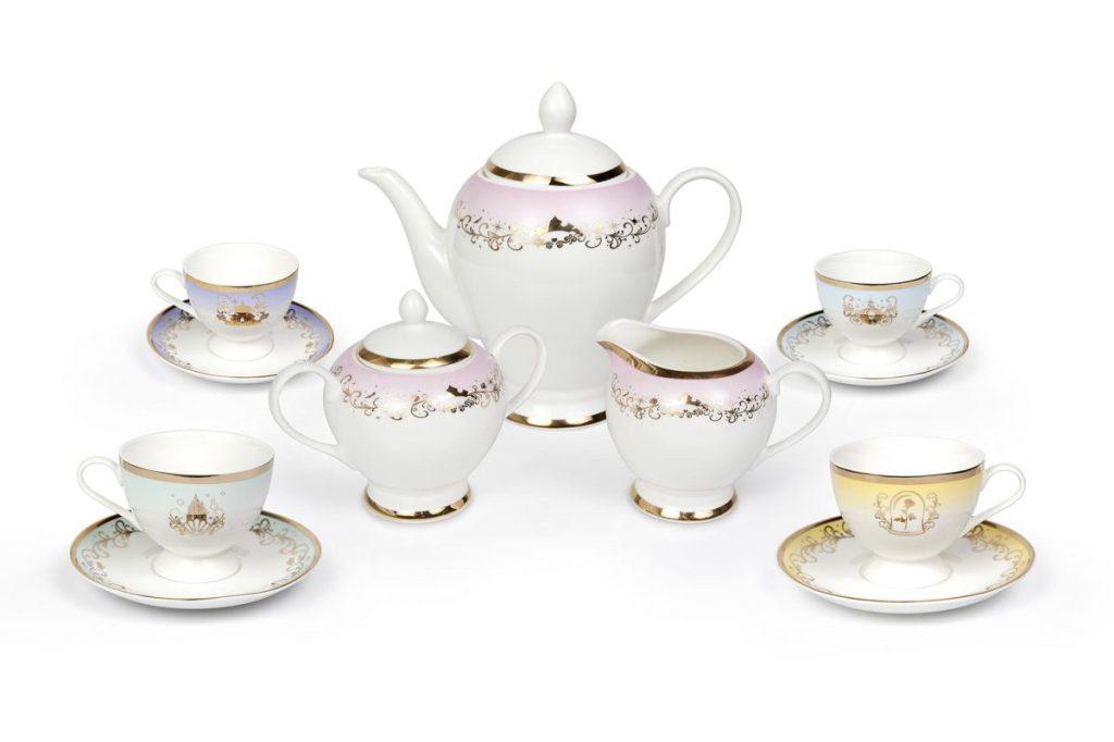Juego de té de cerámica de las princesas de Disney