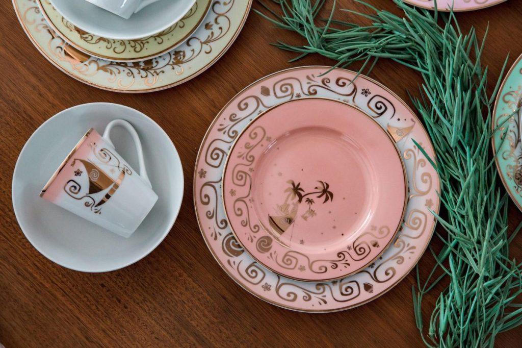 Colección de vajilla de cerámica de 16 piezas de las princesas Disney # 3