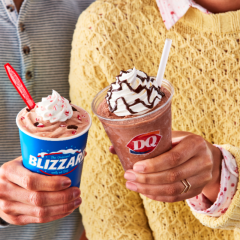 DQ Peppermint Hot Cocoa Blizzard