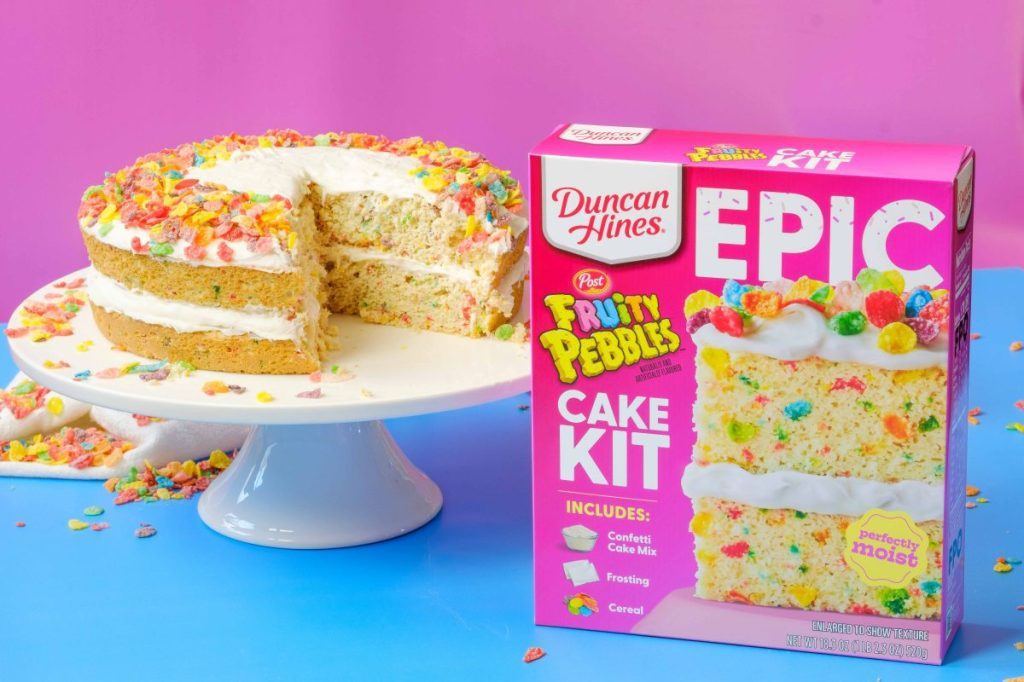 Duncan Hines Fruity Pebbles Cake Kit