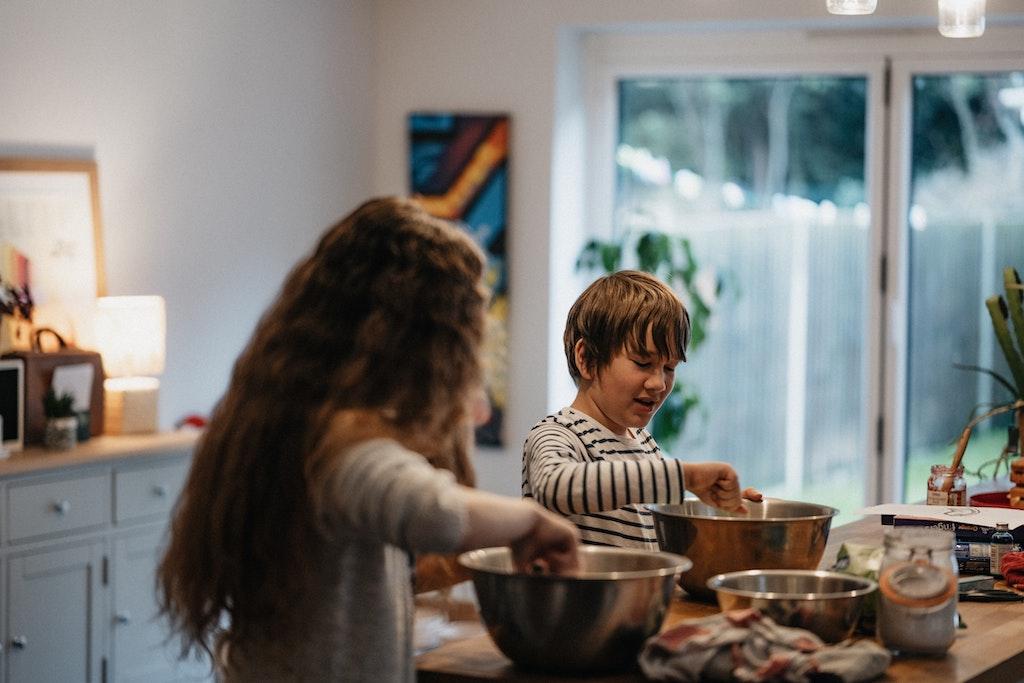 kids cooking kitchen