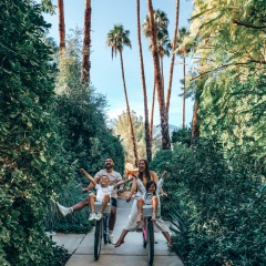 family bike ride palm springs