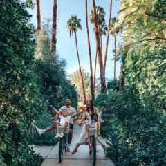 family bike ride palm springs