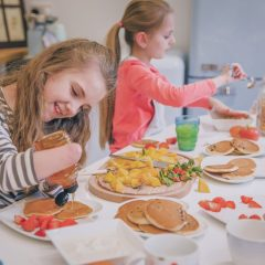 family-cooking-diveristy-amputee-pancakes-istock